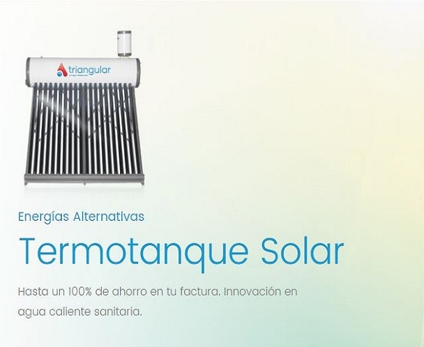 termotanque solar triangular