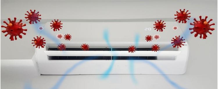 El uso de equipos de aire acondicionado en verano, durante la pandemia de COVID-19