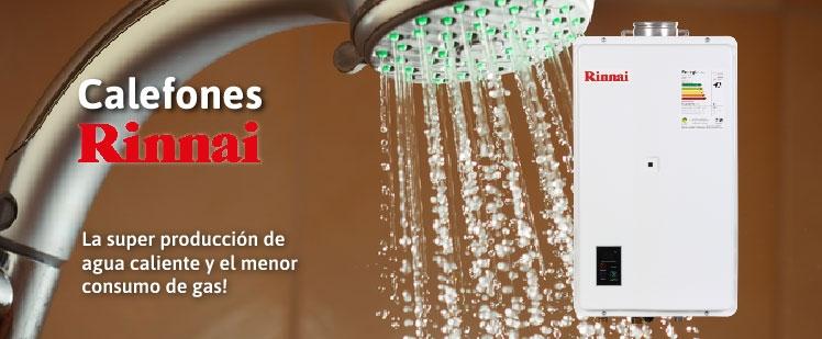 Calefón RINNAI la super producción de agua caliente