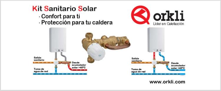 """Agua caliente Solar - Kit  de conexión """"sanitario solar"""" ORKLI"""